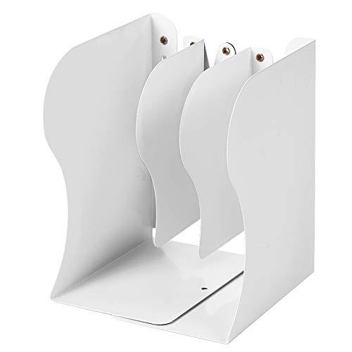 Intrekbare boeken Metalen boek eindigt Decoratieve Binder Houder Organizer verlengt tot 19.69 Inch Breedte Verstelbare Boekenplank Kleur: wit