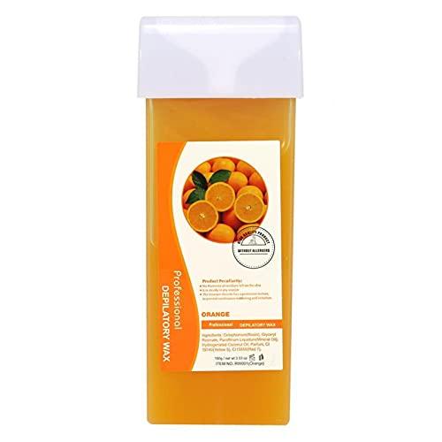 Crema de cera depilatoria, cera depilatoria 12 sabores suave para todas las pieles para la depilación corporal(Orange, Santa Claus)