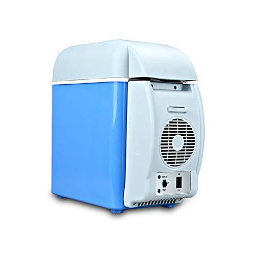 Mini refrigerador para automóvil de 7.5 L, refrigerador portátil para automóvil de 12 V que puede contener 6 botellas de agua mineral u 8 latas de bebidas enlatadas, la correa externa para el hombro