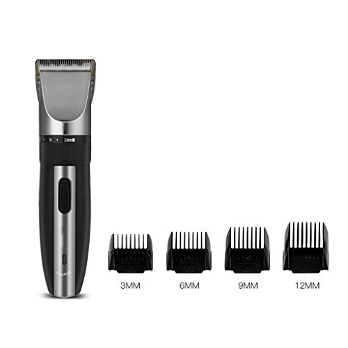 Professionele Low Noise Oplaadbare Haircut Machine Verstelbare 0.8-2mm Electric Shave Titanium keramische mes tondeuse