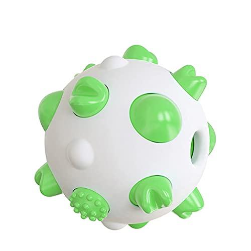SJYDQ Bola de Perro IQ Resistente a Las mordeduras, dispensador de Comida Interactivo, Juguetes para Masticar para Mascotas, para Perros pequeños, medianos y Grandes (Color : Green)