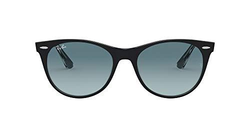 Ray-Ban Wayfarer II Gafas de lectura, Schwarz Auf Transparente/Blau/Gr, 52 MM Unisex Adulto