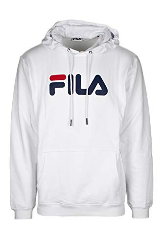 Fila Sweater Herren Classic Pure Hoody 681090 Weiß M67 Bright White, Größe:M