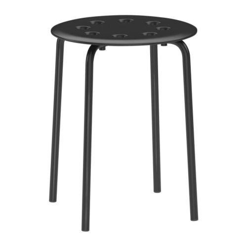 Ikea 101.356.59 Marius-Taburete apilable (45 cm), Color Negro