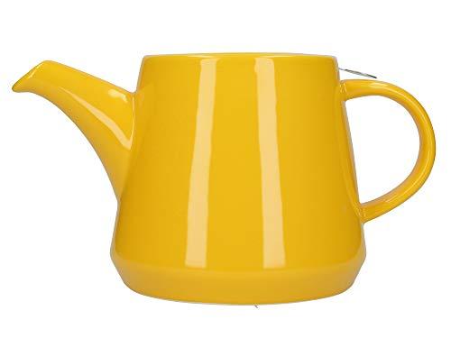 London Pottery Hi-T - Juego de tetera con infusor (filtro y bandeja de goteo integrada, gres, miel, 2 tazas (650 ml)