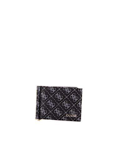 Portafoglio Guess con molla logato SM2615LEA23 black
