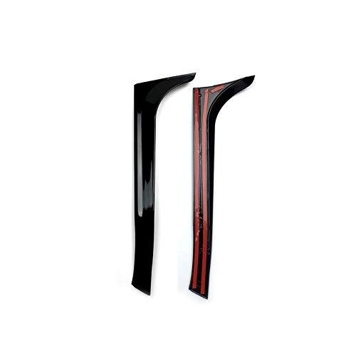 Heckscheibe Seiten Spoiler Flügel,Auto-Seitenspoiler Aufkleber Trim Abdeckung Auto Styling for VW Golf 6 GTI MK6/GTR/GTD 2008-2013,Autozubehör,1 Paar