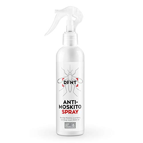 DFNT Anti Moskito Spray | 250 ml luktfritt myggspray | Biologiskt nedbrytbar myggskydd | myggnät och myggplugg komplement