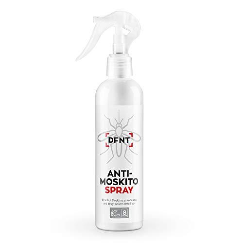 DFNT Anti Moskito Spray | 250 ml Geruchsneutrales Mückenspray | Biologisch abbaubares Mücken Abwehr | Moskitonetz und Mückenstecker Ergänzung