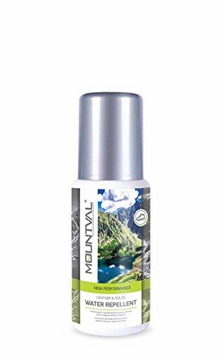 Mountval Imprägniermittel Water Repellent für Leder & Sohlen Geeignet für Trekkingschuhe aus Glatt- & Vollnarbenleder | Inklusive Schwamm zum Auftragen