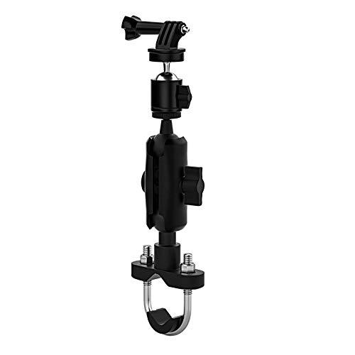 Joocyee 360 Soporte Giratorio para Manillar de Motocicleta para Bicicleta para cámara de acción Hero 9 8 7, Soporte de fijación para grabadora de Motocicleta Tipo Manillar, Negro