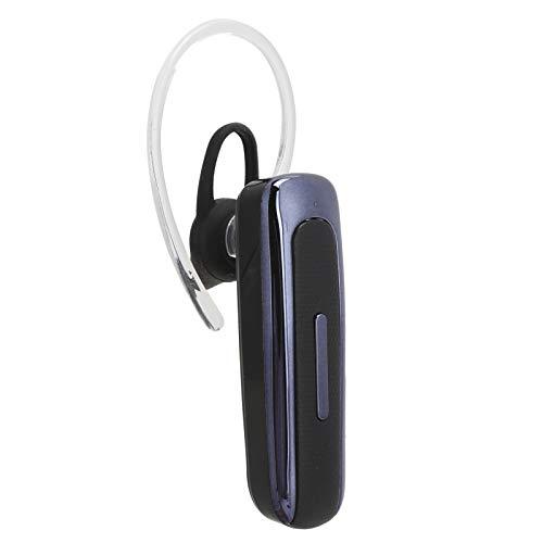 Auriculares Bluetooth, Auriculares individuales inalámbricos, Auriculares comerciales para colgar en una sola oreja, Auriculares manos libres para automóvil para conducir / Negocios(azul oscuro)
