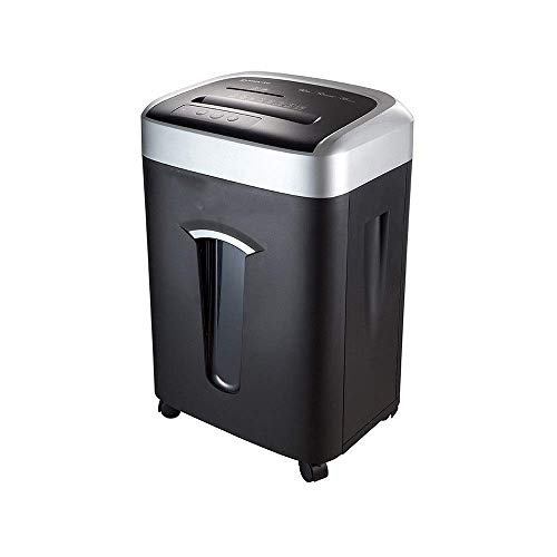 Snel en schoon Duurzaam Lange levensduur van de batterij High Security Shredder Quiet High Power High Capacity Smart papiervernietiger met rem Wiel vernietigt Papier (Kleur: Zwart, Maat: 41.7x31.5x64.