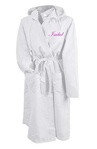 Tipografie Ghisleri badjas van microvezel wit geborduurd met naam, maten S-M-L-XL. Stuur een bericht na de bestelling, naam en kleur van het borduursel.