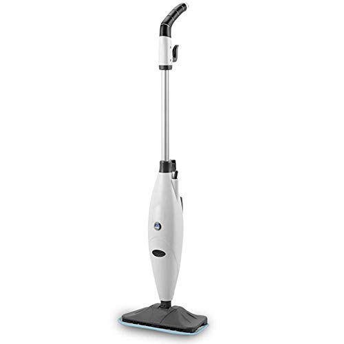Steam Mop, Multi Function Handheld en Rechtop Steam Mop, verstelbare Steam Instellingen for Vlekken verwijderen Vloer Vloerbedekking, Floor Electric Spray Rotating Pads 1300W-White XIUYU