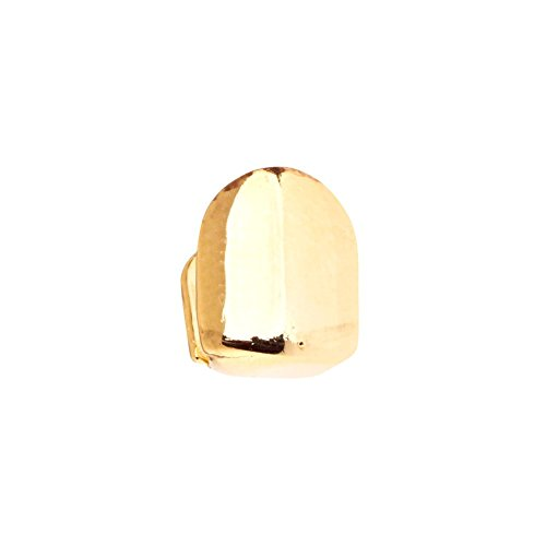 ICED OUT Single 10x8mm Grill - One Size fits All Zahnaufsatz Gold