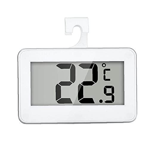 Termómetro de refrigerador Termómetro inalámbrico a prueba de agua Digital Temperatura con congelador de -20 a 60 grados Gran pantalla LCD, termómetro de refrigerador digital