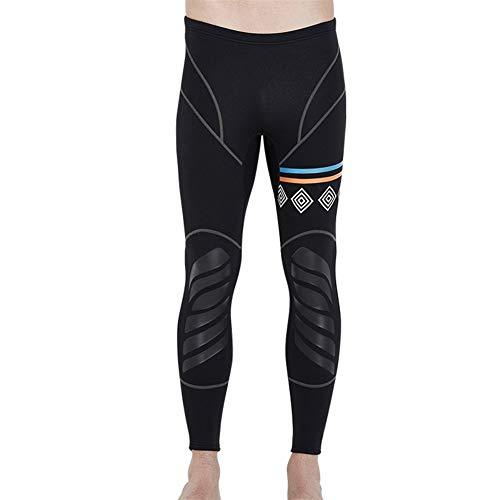 Traje de Neopreno de 3 mm de Buceo Chaquetas Pantalones de Manga Larga Traje de Buceo con escafandra de los Hombres de Salto Snorkel Surf Trajes de Neopreno envío (Color : 1.5mm lp18051, Size : L)