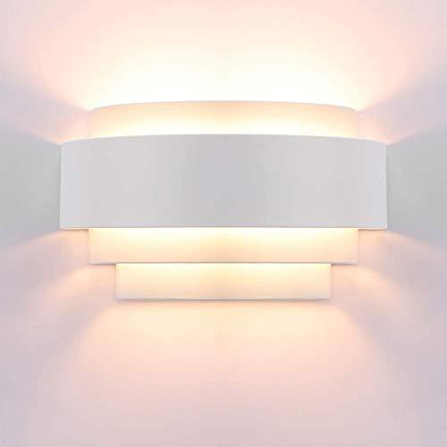 Lampop LED Wandleuchte Up Down Wandlampe E27 Innen Moderne Wandleuchten Uplighter Downlighter Leuchten Perfekt für Wohnzimmer Flur Schlafzimmer Treppenhaus, Warmweiß (Glühbirne enthalten)
