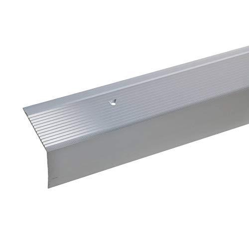 bronze hell Treppenkanten-Profil 20x20mm * Rutschhemmend * Robust * Leichte Montage Treppenstufen-Profil aus Alu * Treppenkantenschutz 100cm acerto 35408 Aluminium Treppenwinkel-Profil