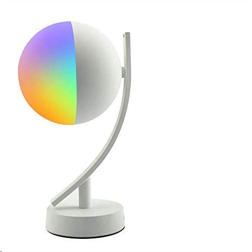 Smart Table Lampada Compatibile con Alexa Google Home WiFi Intelligente RGBW Comodino Night Light Controlled By Voice/App Lampade da Tavolo Dimmerabili