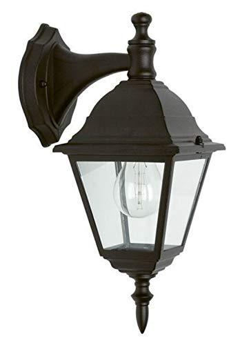 Brilliant Newport Wandleuchte für den Außenbereich 34 x 22 cm in schwarz 44282/06 | Gartenbeleuchtung für LED Leuchtmittel geeignet | Regen- und Spritzwassergeschützte Außenlampe nach IP 23