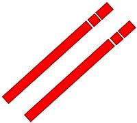 2個ビニールの車のボンネットの屋根接着剤ストリップの接着カバー。ミニクーパーR50 R53 R56 R55,赤