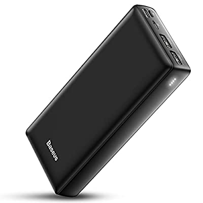 Baseus 30000mAh Power Bank, Fast Charging Portable Charger 30000 Plus Mobile Phone External Battery Pack USB C Powerbank for iPhone 12 11 Pro Max Samsung Galaxy S21 Huawei Xiaomi Mi