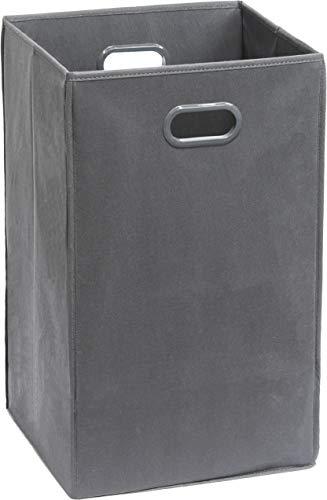 SimpleHouseware Foldable Closet Laundry Hamper Basket Dark Grey