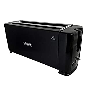 Voche Black 1300W 4-Slice Toaster with Crumb Tray & 6 Browning Settings