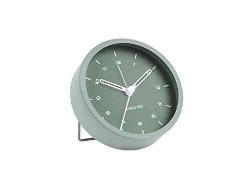 Karlsson - Tischuhr, Uhr, Wecker Tinge - Stahl - grün - Ø9 x T3 cm - Design: Armando Breeveld