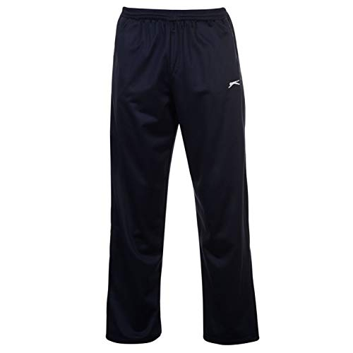 Slazenger Herren Workout Jogginghose Fitness Hose Trainingshose Sporthose Blau Large