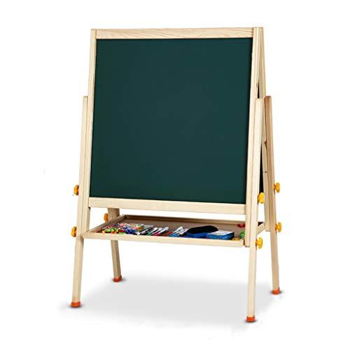 Kinderen ezel, beugel multifunctionele kinderen vroege onderwijs tekentafel liftable massief hout ezel thuis kinderen magnetische whiteboard ezel (verzend 6 soorten kleine geschenken)