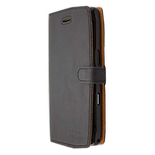 caseroxx Handy Hülle Tasche kompatibel mit Crosscall Trekker-X4 Bookstyle-Hülle Wallet Hülle in schwarz
