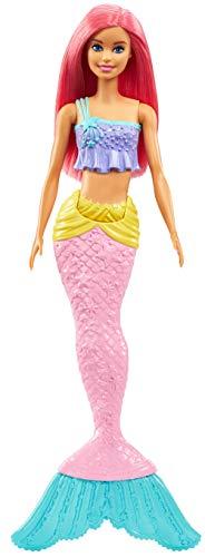Barbie Dreamtopia Sirena Muñeca con Pelo Rosado para Niñas y Niños +3 Años (Mattel GGC09)