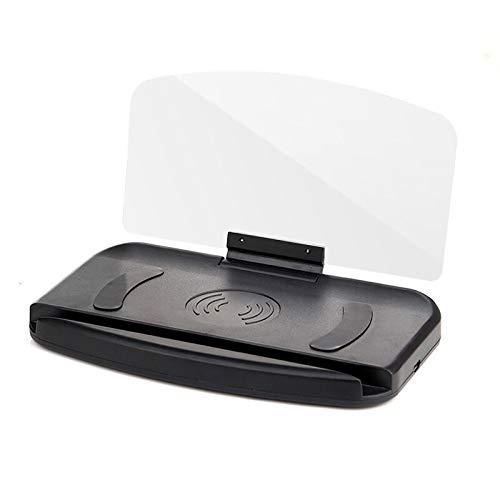 XMCJ Auto Accesorio del Coche Universal GPS Head Up Display navegación Holder Soporte del teléfono proyector.Adornos y Colgantes Coche (Color Name : with Slow Charging)