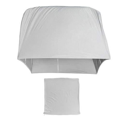 B Blesiya - Funda para sofá de 1 a 4 plazas, elástica, Funda para sofá, protección para Muebles para salón, poliéster, Plata, 2 Sitzer