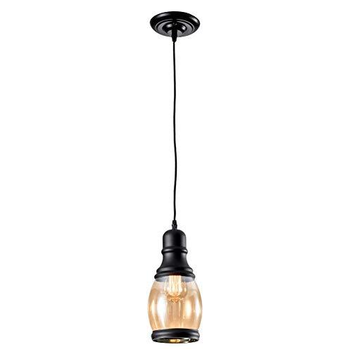 WYZXR - Lámpara de techo de estilo vintage con decoración de botellas de cristal en miniatura