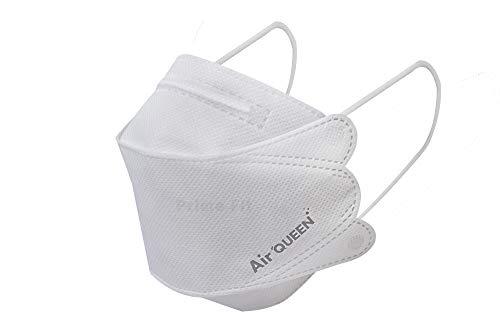 Lot de 2 masques en nano-fibre Air QueenTM   Approuvé par la FDA, KF94, design ergonomique, respirant et léger, protège de la poussière et du pollen, emballés individuellement, masques pour le visage fabriqués en Corée
