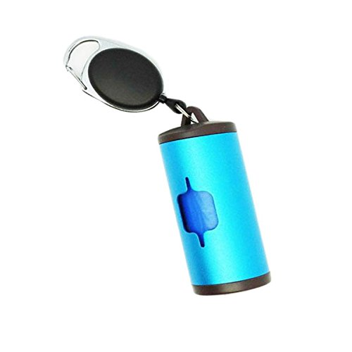 EgBert Aluminium Poop Taschen Dispenser Patentierten Degradable Pet Poop Taschen Outdoor Pet Excrement Garbage Clean - Blau