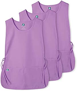 Adar Unisex Cobbler Apron (3 Pack) with 2 Pockets / Adjustable Ties - Available in 30 Colors