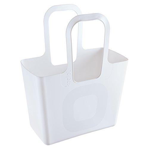 Koziol, Borsa XL, in Plastica, 21.5x 44x 54cm, Plastica, Bianco, 215x440x540 cm