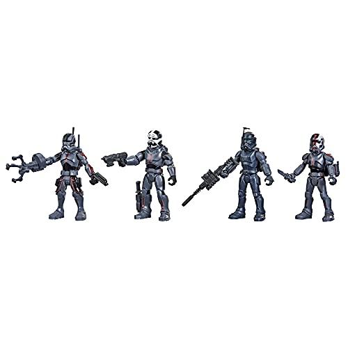 Hasbro- Star Wars Mission Fleet Action - Figuras de acción de ClonComando de 6 cm (4 Unidades) con Varios Accesorios, Juguetes para niños a Partir de 4 años (F5333)