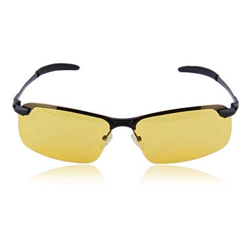 Zhou-YuXiang Gafas polarizadas de visión Nocturna de Gama Alta Unisex, Accesorios para Gafas de conducción, Gafas de visión Nocturna Antideslizantes, Peso Ligero