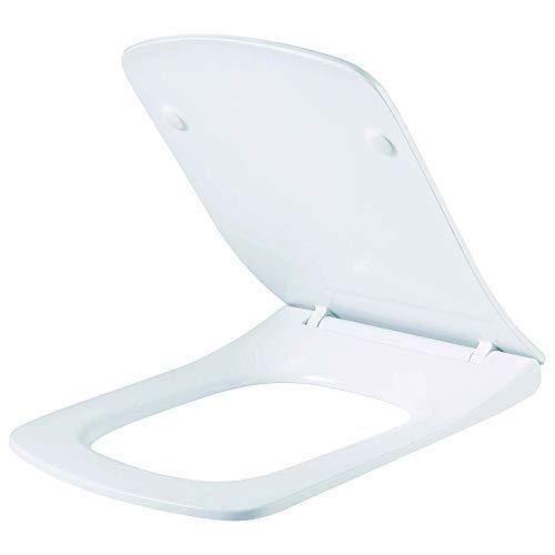 AAN - Asiento de inodoro con tapa de cierre suave y forma rectangular...