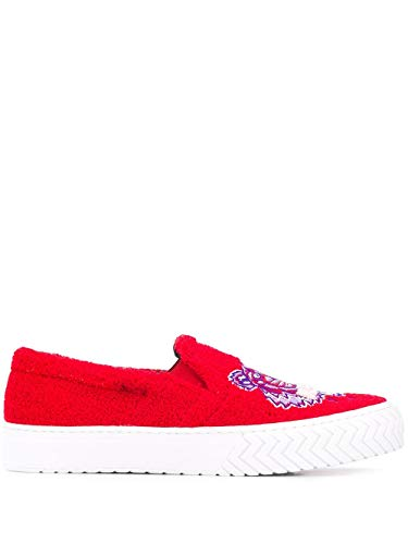 Moda De Lujo | Kenzo Hombre Fa55Sn200F6022 Rojo Algodon Zapatillas Slip-On | Ss21
