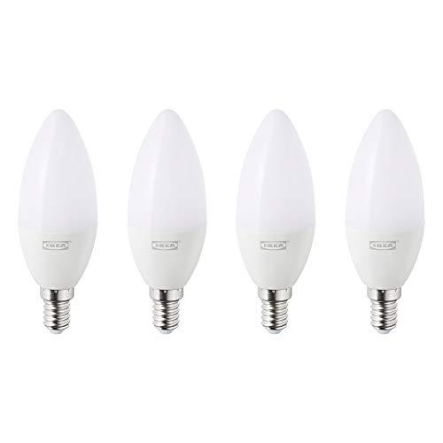 IKEA TRADFRI LED Leuchtmittel in opalweiß; E14; 400lm; kabellos dimmbar; kerzenförmig; 4 Stück
