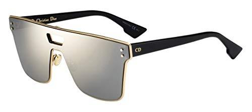 Dior Cristiano Diorizon1 Gafas de sol Negro w / 99mm lente de Marfil 2M2QV Diorizon1S Diorizon1 / S Diorizon 1S Diorizon 1 / S Diorizon 1 mujer Oro Grande