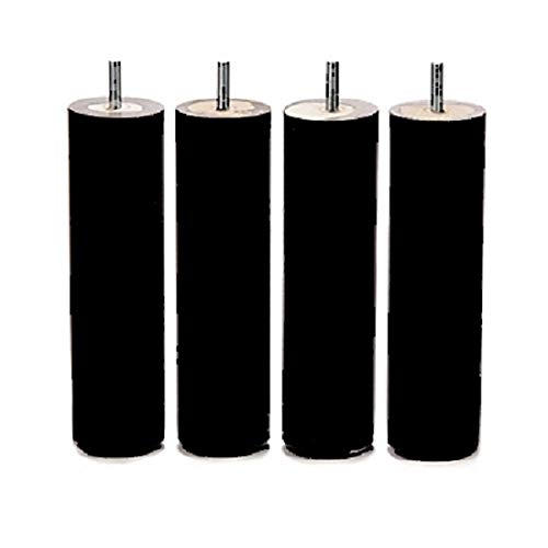 Lot de 4 Pieds 35 cm Noir