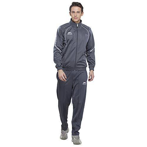 Shiv Naresh 445A-DGLGW-XL Polyester Tracksuit, Adult X-Large (Dark Grey/Light Grey/White)